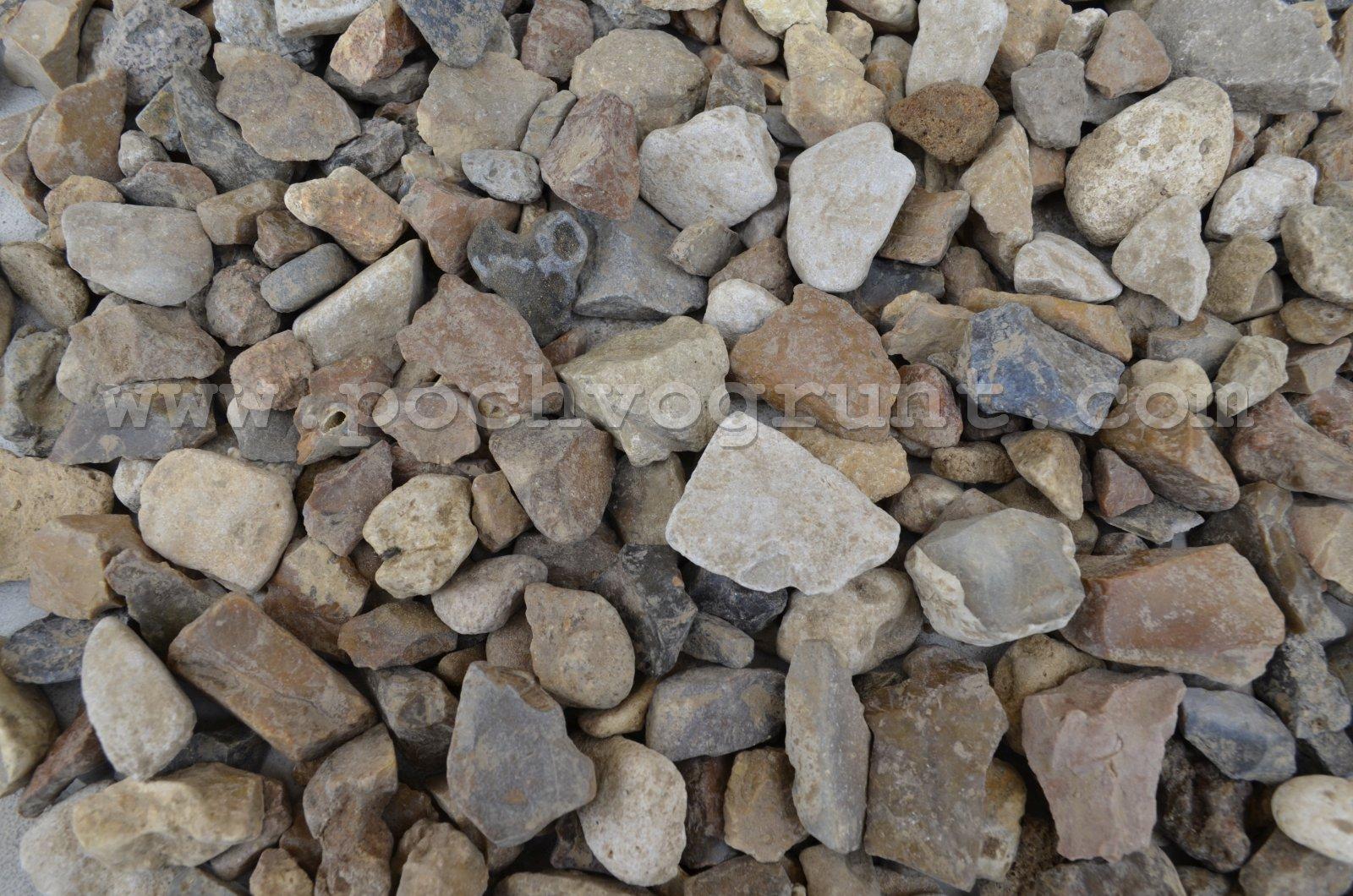 Щебень гравийный крупная фракция 10-25 мм в Чехове и Чеховском районе купить